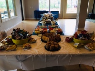 The food tables are set, and....